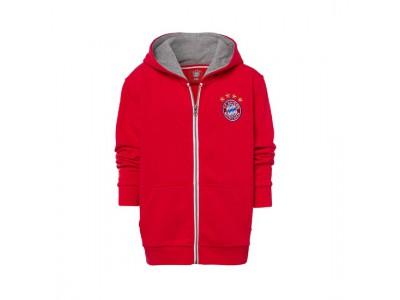 FC Bayern Munchen jakke - Hooded Jacket Classic Kids Red - børn