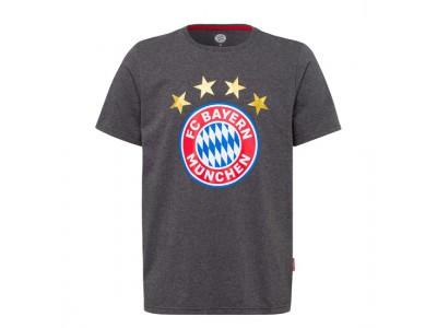 FC Bayern Munchen t-shirt - Shirt Logo Anthracite