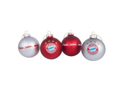 "FC Bayern Munchen juletræskugler - ""X-Mas Tree Balls 7cm , set of 4"""