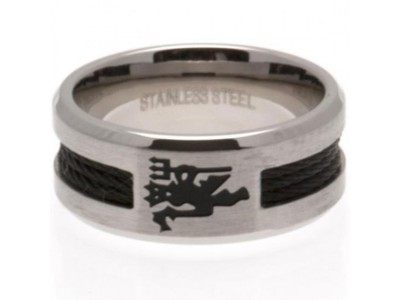 Manchester United ring - Black Inlay Ring - Small