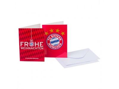 FC Bayern Munchen Card -Set Frohe Weihnachten / Logo