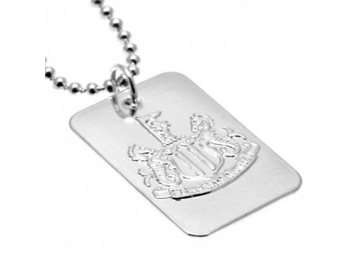 Newcastle United kæde og skilt - NUFC Silver Plated Dog Tag & Chain