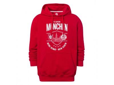 FC Bayern Munchen hættetrøje - Hoodie Meine Heimat Mein Verein Red