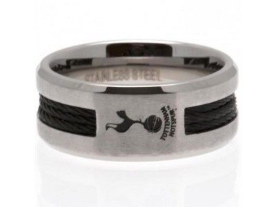 Tottenham Hotspur ring - Black Inlay Ring - Small
