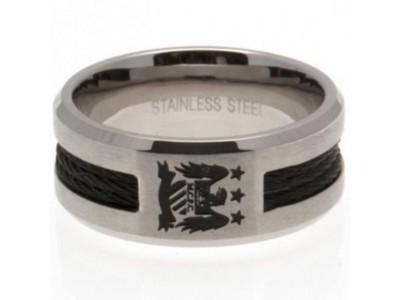 Manchester City ring - MCFC Black Inlay Ring - Medium EC