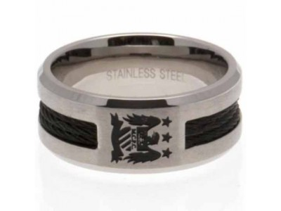 Manchester City FC Black Inlay Ring Small EC
