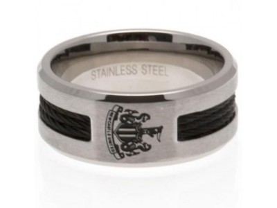 Newcastle United ring - NUFC Black Inlay Ring - Small