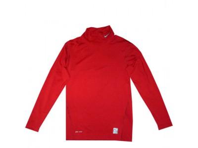 pro combat tætsiddende trøje høj hals - rød
