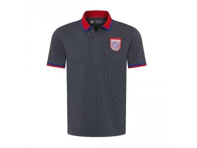 FC Bayern München polo trøje - retro grå