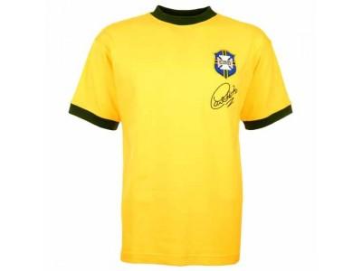 Brasilien 1970 VM Carlos Alberto Retro Trøje