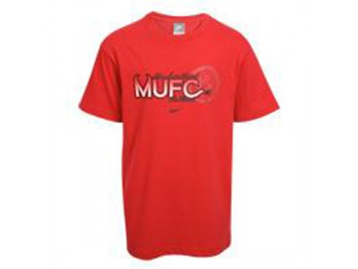 Manchester United klub t-shirt 2009 - rød - børn