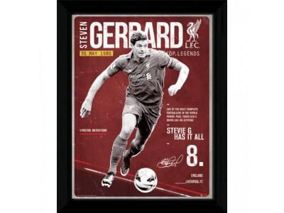 Liverpool FC billede - Picture Gerrard Retro 16 x 12