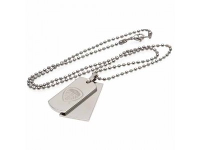 Leeds United skilt og kæde hund - LUFC Double Dog Tag & Chain