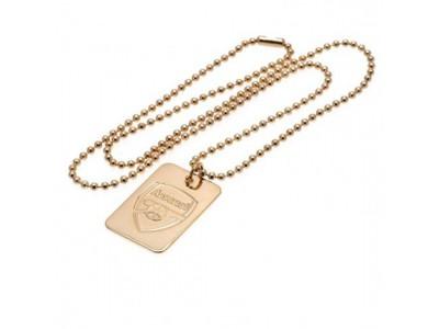 Arsenal kæde og emblem til hund - Gold Plated Dog Tag & Chain