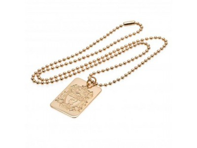 Liverpool FC hunde skilt - Gold Plated Dog Tag & Chain
