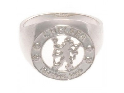 Chelsea FC Sterling Silver Ring Small