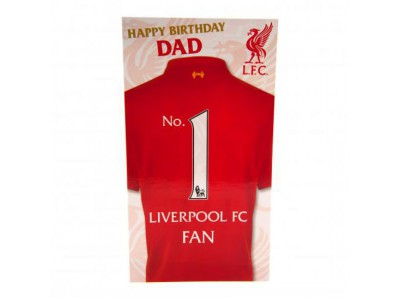 Liverpool FC fødselsdagskort til far - Birthday Card Dad
