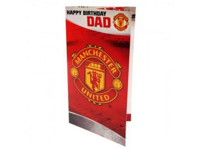 Manchester United fødselsdagskort - far