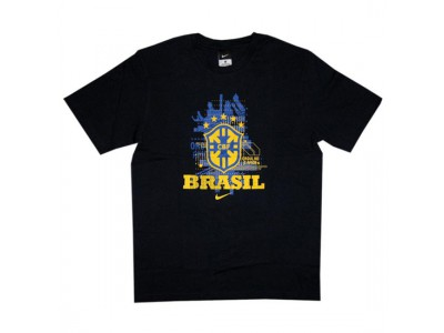 Brasilien number 10 t-shirt VM 2010 - mørkeblå
