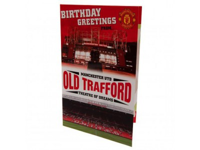 Manchester United fødselsdagskort - Pop Up Birthday Card