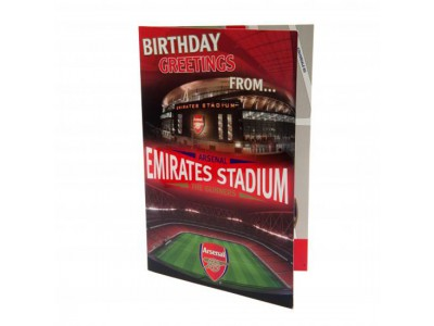 Arsenal fødselsdagskort - Pop Up Birthday Card