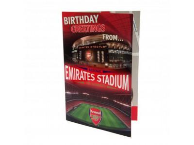 Arsenal fødselsdagskort - Pop Up Birthday Card