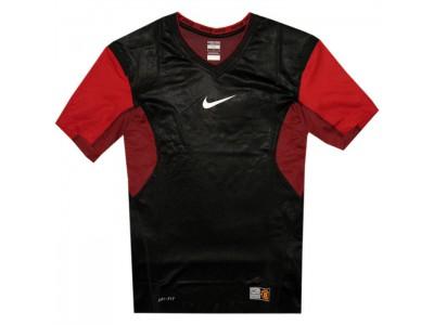Manchester United vapor neck top 2010/11 - rød-sort
