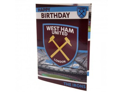 West Ham fødselsdagskort - Musical Birthday Card