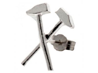 West Ham ørering - Sterling Silver Stud Earring