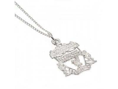 Liverpool FC halskæde - Sterling Silver Pendant & Chain CR