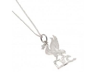 Liverpool FC halskæde - Sterling Silver Pendant & Chain LB