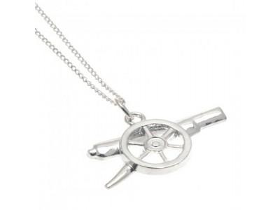 Arsenal kæde - AFC Sterling Silver Pendant & Chain GN