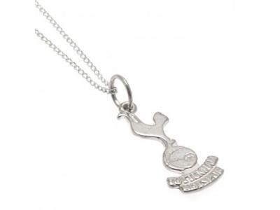 Tottenham Hotspur halskæde med emblem - Sterling Silver Pendant & Chain
