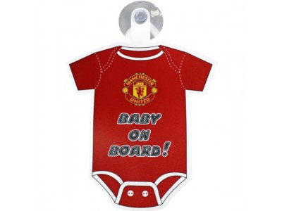 Manchester United skilt - MUFC Baby On Board Sign