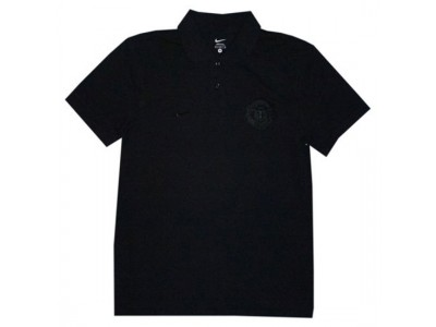 Manchester United polo trøje pure 2010/11 - all black