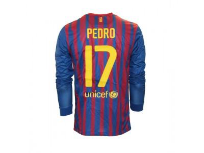 Barcelona hjemme trøje L/Æ - Pedro 17