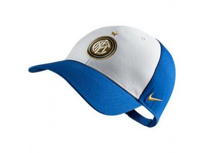 Inter fodbold cap kasket 2011/12 - blå - hvid