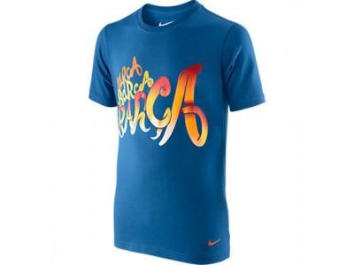 FC Barcelona t-shirt core 2011/12 - blå - børn