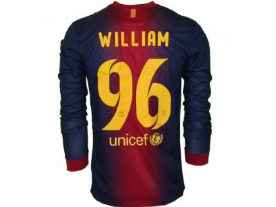 FC Barcelona Hjemme Trøje L/Æ 2012/13 - WILLIAM 96