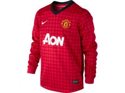 Manchester United hjemme trøje Lange Ærmer 2012/13 - børn