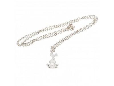 Tottenham Hotspur kæde med emblem - Silver Plated Pendant & Chain