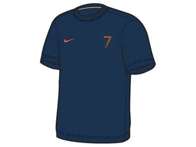 Portugal t-shirt Cristiano Ronaldo 7 - mørkeblå - børn