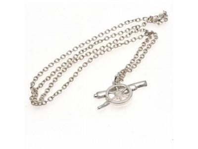 Arsenal kæde med emblem - Silver Plated Pendant & Chain GN