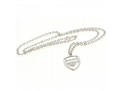 Arsenal halskæde med emblem - Silver Plated Pendant & Chain CR