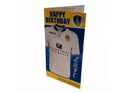 Leeds United fødselsdagskort - LUFC Birthday Card Shirt