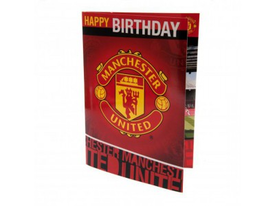 Manchester United fødselsdagskort - Musical Birthday Card
