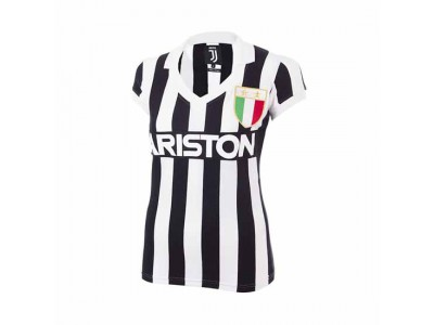 Juventus 1984 - 85 Dame Retro Fodbold Trøje