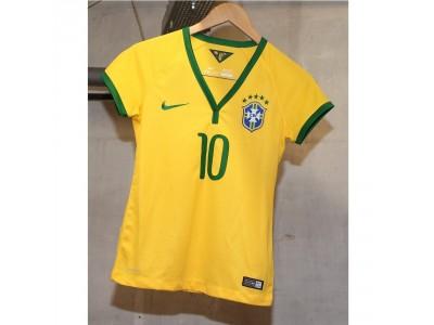 Brasilien hjemme trøje 2014 - Neymar 10 - dame