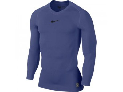 Nike kompressions trøje L/S - navy