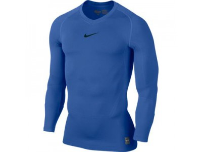 Nike kompressions trøje L/S - blå